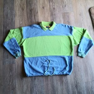 90s Lizwear Color Block collared sweater vintage